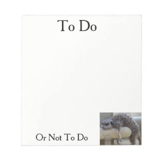Bloc-note Pour faire ou pas