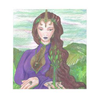 Bloc-note Princesse Healing Earth Plant Growing de licorne