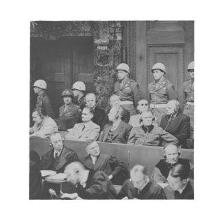 Bloc-note Procès de Nuremberg