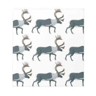 Bloc-note Rangées de caribou