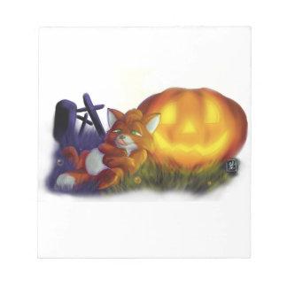 Bloc-note renard de Halloween
