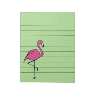 Bloc-note Rétro flamant rose pour faire le cadeau de bloc -