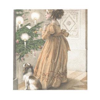 Bloc-note Rétros vacances vintages de Noël victorien