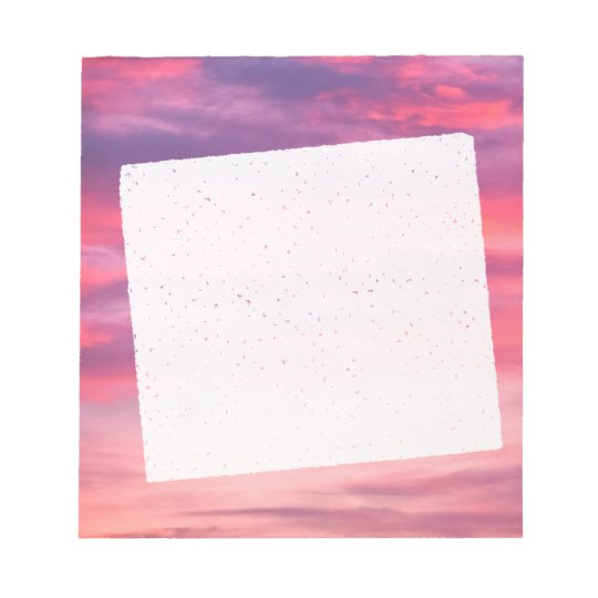 Bloc-note Romantic purple and pink sky with white clouds