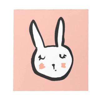 Bloc-note Rose de visage de lapin