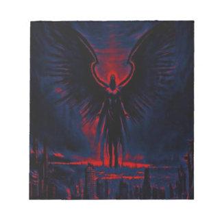 Bloc-note Rouge angélique et bleu de gardien