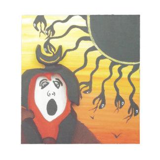 Bloc-note Sacrifice à Dieu de serpent solaire