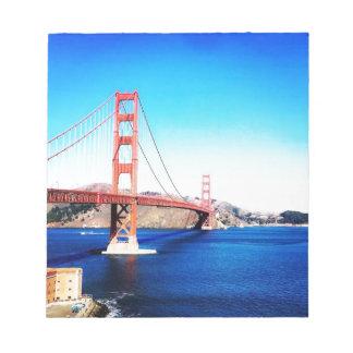 Bloc-note San Francisco golden gate bridge la Californie