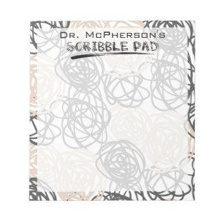 Bloc-note Scribble Pad de docteur personnalisé