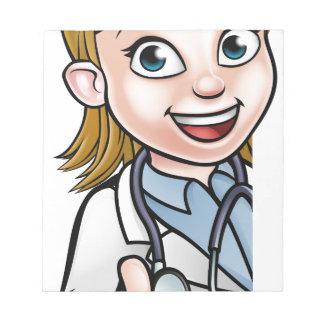 Bloc-note Signe de personnage de dessin animé de docteur