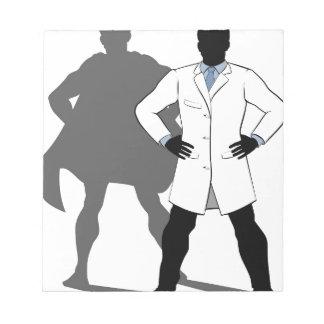 Bloc-note Silhouette de superhéros de scientifique