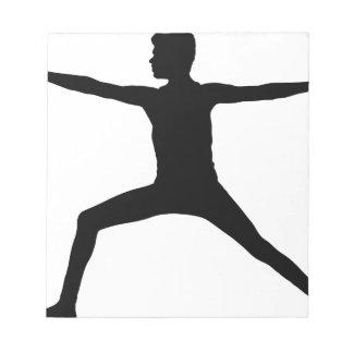 Bloc-note Silhouette masculine de pose de yoga