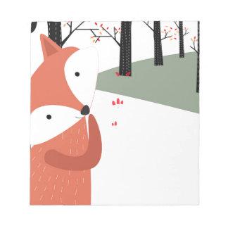 Bloc-note Sourire mignon vintage de loup de renard de bébé