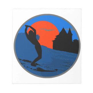 Bloc-note Surfeur de Biarritz