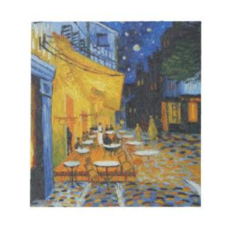 Bloc-note Terrasse de Café le nuit de Vincent Van Gogh