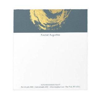 Bloc-note Traçages de symbole de YOGA de ZEN élégant de bleu