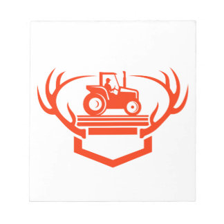 Bloc-note Tracteur d'Antler de cerfs communs de queue