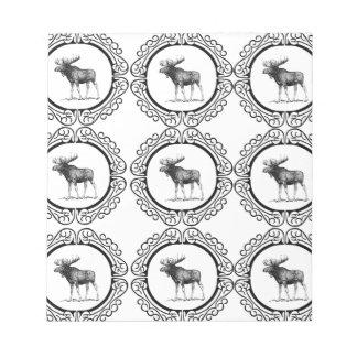 Bloc-note troupeau d'anneau d'orignaux