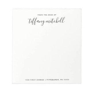 Bloc-note Typographie noire et blanche simple et élégante de
