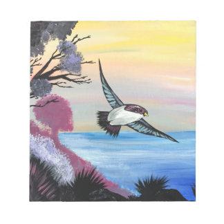 Bloc-note Une vue d'oiseaux