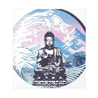 Bloc-note Vague de montagne tropicale de Bouddha