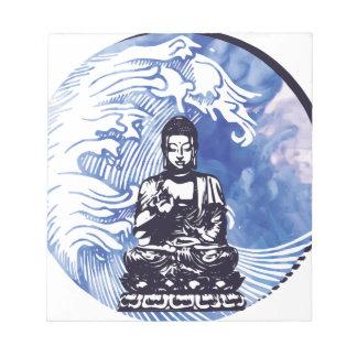 Bloc-note Vague d'eau profonde de Bouddha