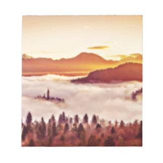 Bloc-note Vallée brumeuse
