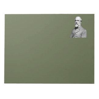Bloc-note Vert du Général Robert E. Lee Army