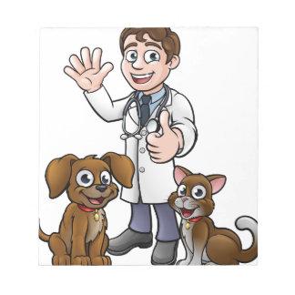 Bloc-note Vétérinaire avec des personnages de dessin animé