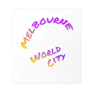Bloc-note Ville du monde de Melbourne, art coloré des textes