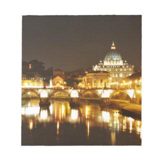 Bloc-note Ville du Vatican, Rome, Italie la nuit