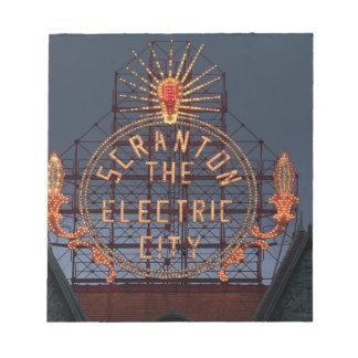 Bloc-note Ville électrique de Scranton