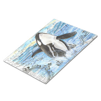 Bloc-note Violation de la carte antique d'orque