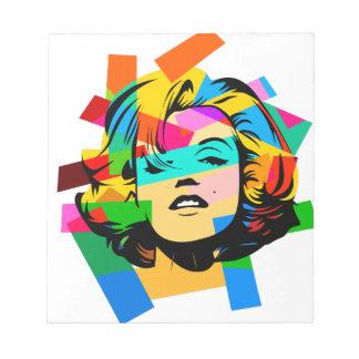 Bloc-note Visage coloré