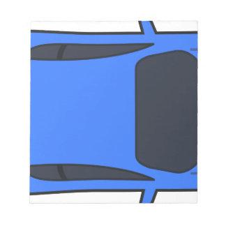 Bloc-note Voiture de sport bleu-foncé