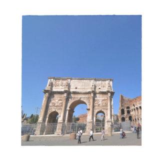 Bloc-note Voûte à Rome, Italie