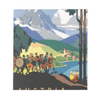 Bloc-note Voyage vintage Autriche