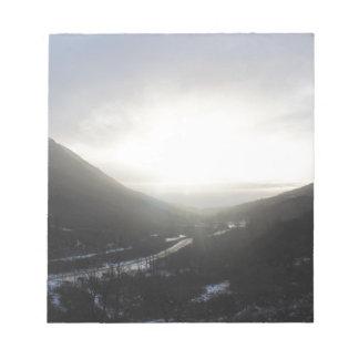 Bloc-note Vue Alaska de passage de Hatcher