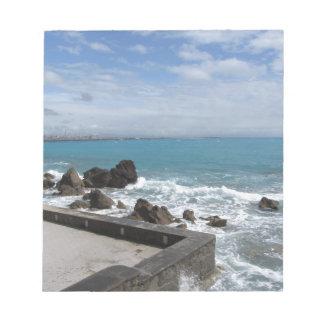 Bloc-note Vue panoramique de côte de Castiglioncello en