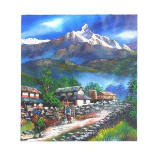 Bloc-note Vue panoramique de montagne Népal d'Everest