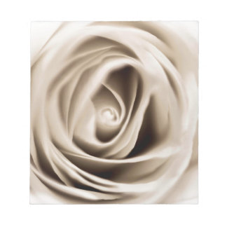 Bloc-note white rose