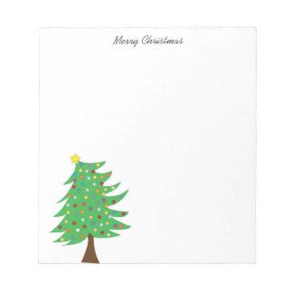 Bloc-notes d'arbre de Noël