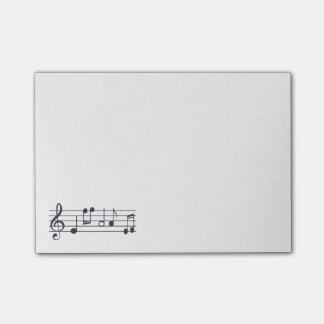 Bloc - notes de notes musicales