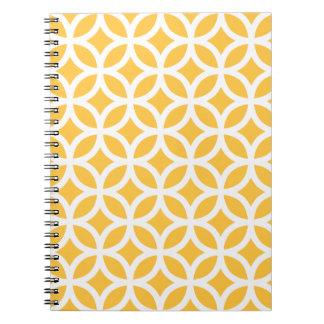 Bloc - notes géométrique jaune solaire carnet