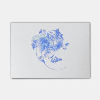 Bloc-notes givré de post-it de fractale de fleur
