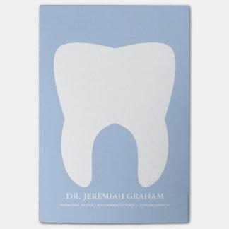 Bloc - notes personnel de bureau de dentiste