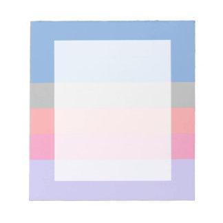 bloc pourpre bleu gris de corail de couleur de blocs notes