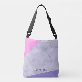 bloc pourpre rose de marbre pourpre élégant de sac