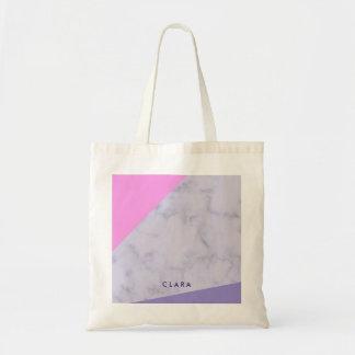 bloc pourpre rose de marbre pourpre élégant de sac de toile