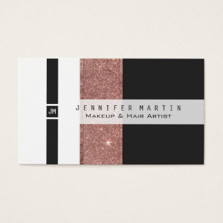 Blocs blancs de couleur d'or de noir rose moderne cartes de visite